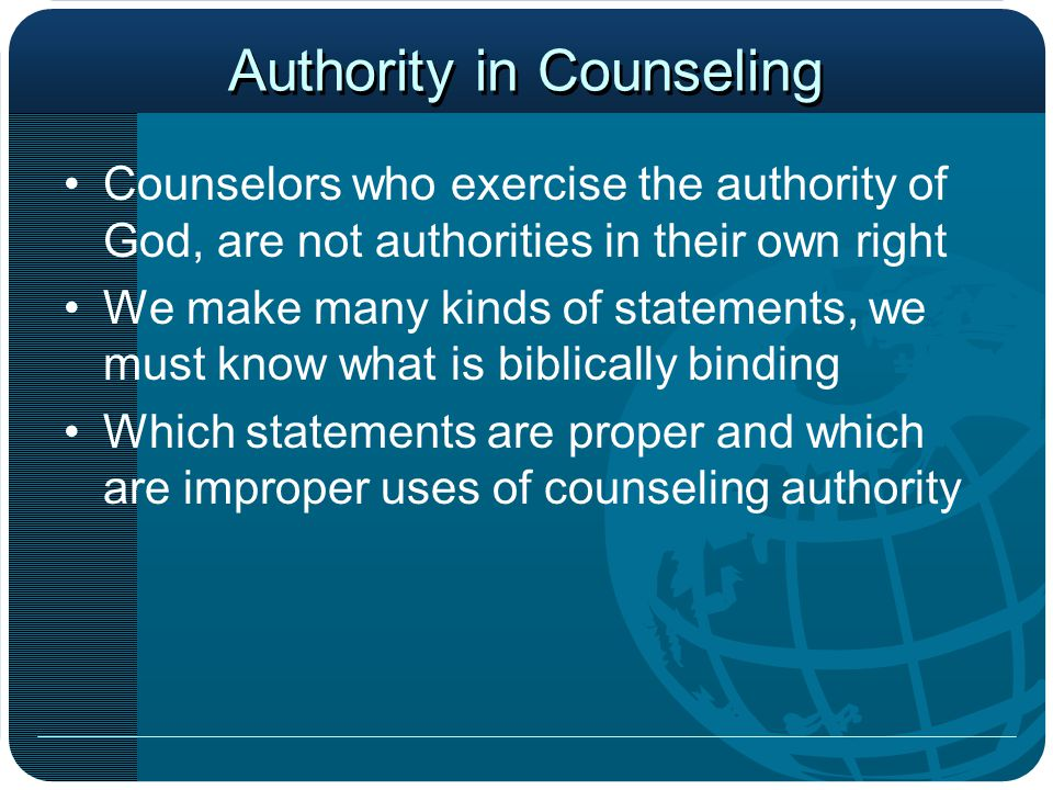 Authority in Counseling