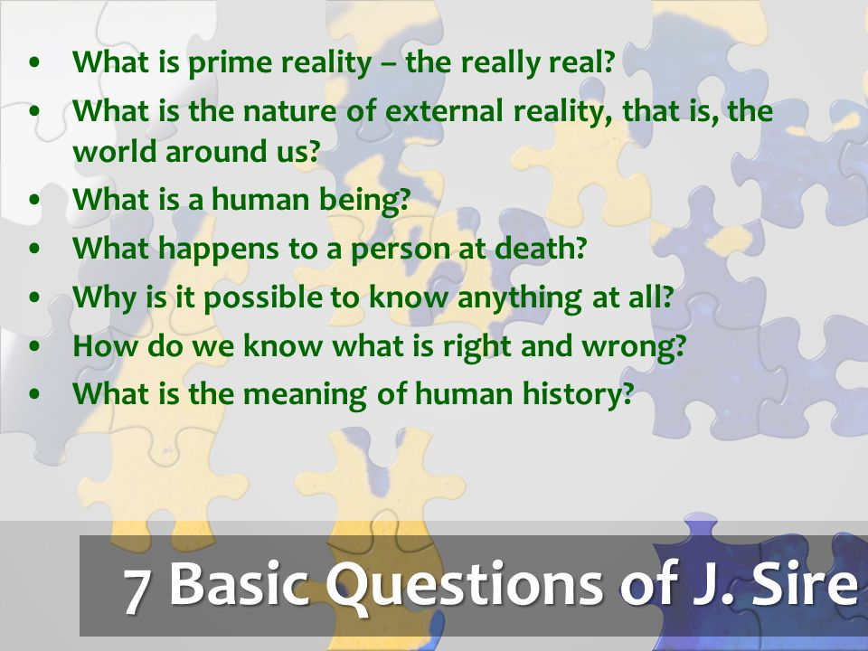 7 Basic Questions of J. Sire