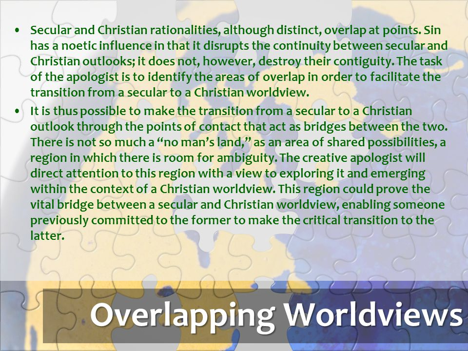 Overlapping Worldviews