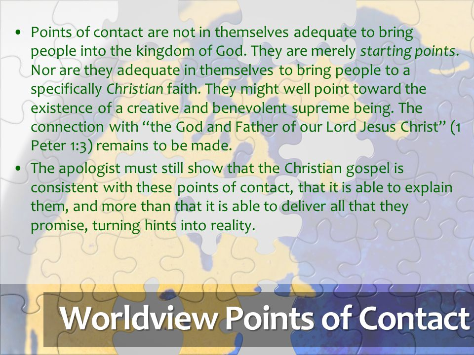 Worldview Points of Contact