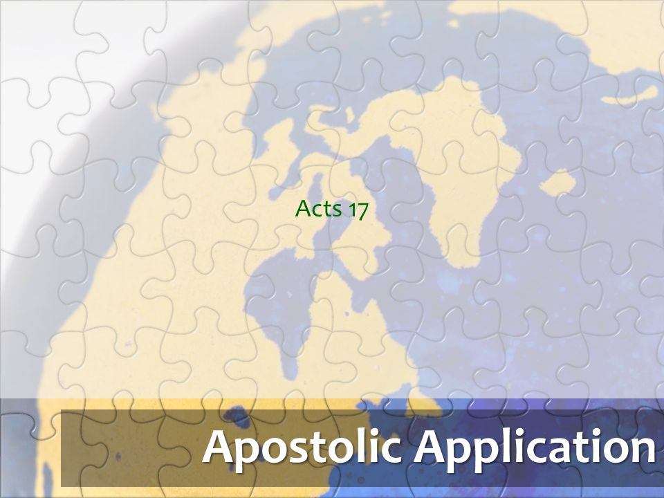 Apostolic Application
