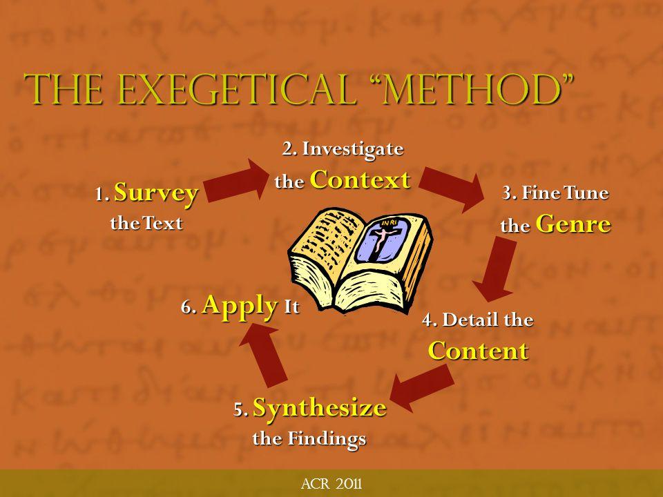 The Exegetical Method