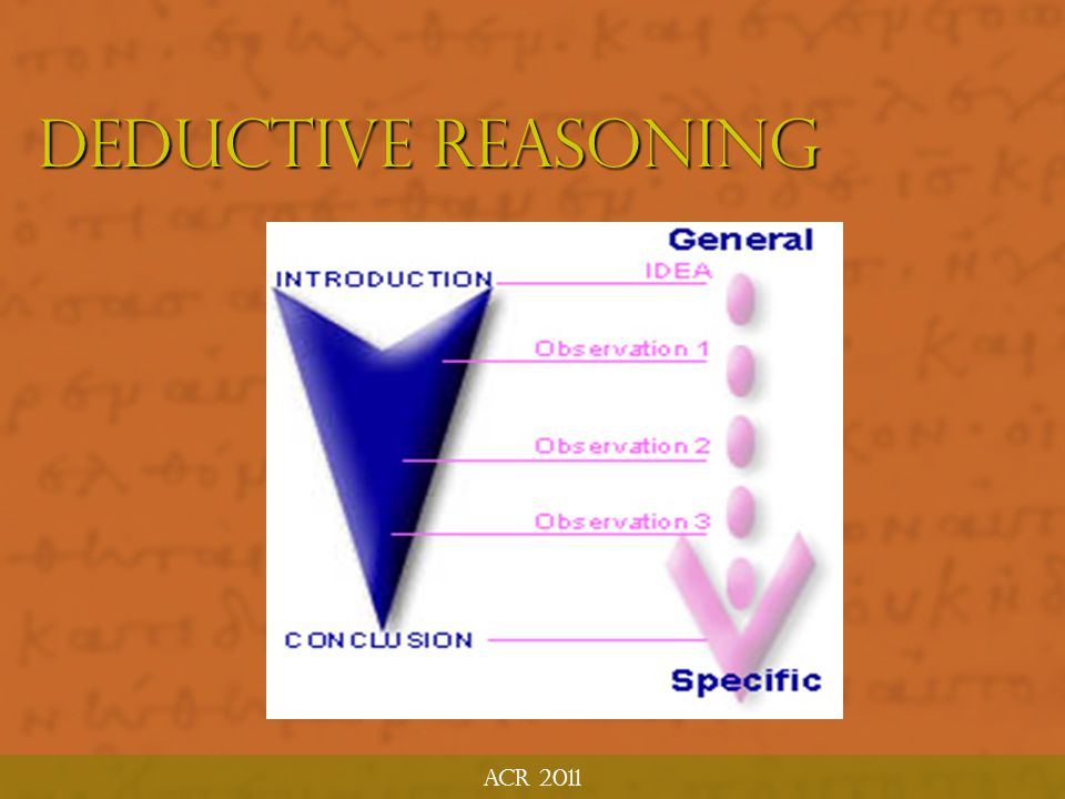 Deductive Reasoning ACR 2011 What Is Inductive Bible Study