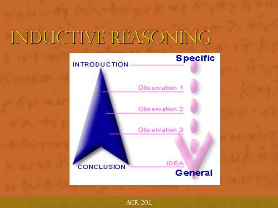 ACR 2011 Inductive Reasoning
