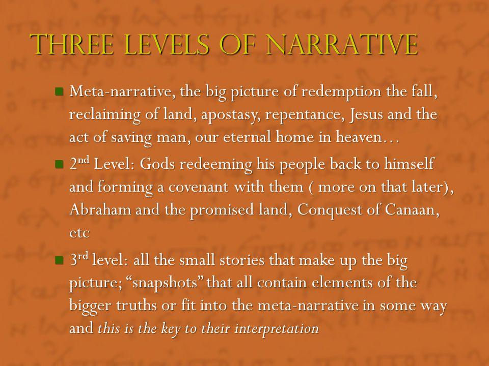 Three Levels Of Narrative