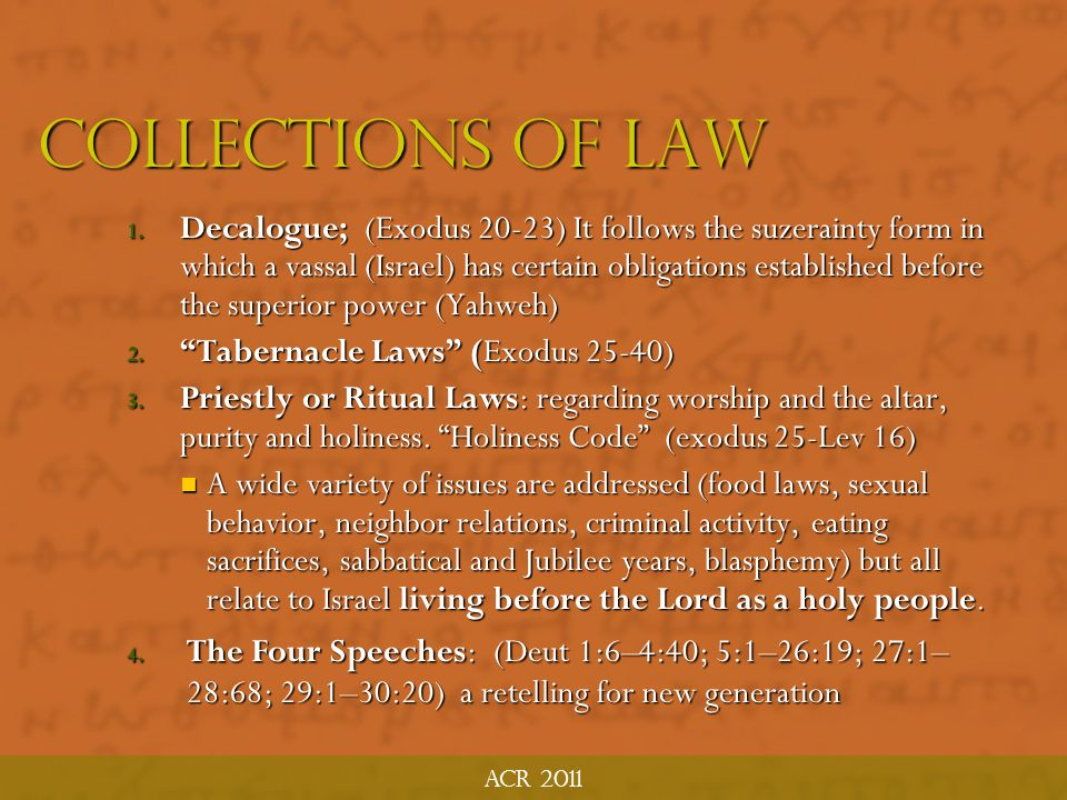 Acr 2011 Collections of law.