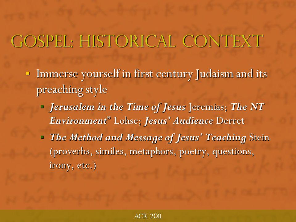 Gospel: Historical Context