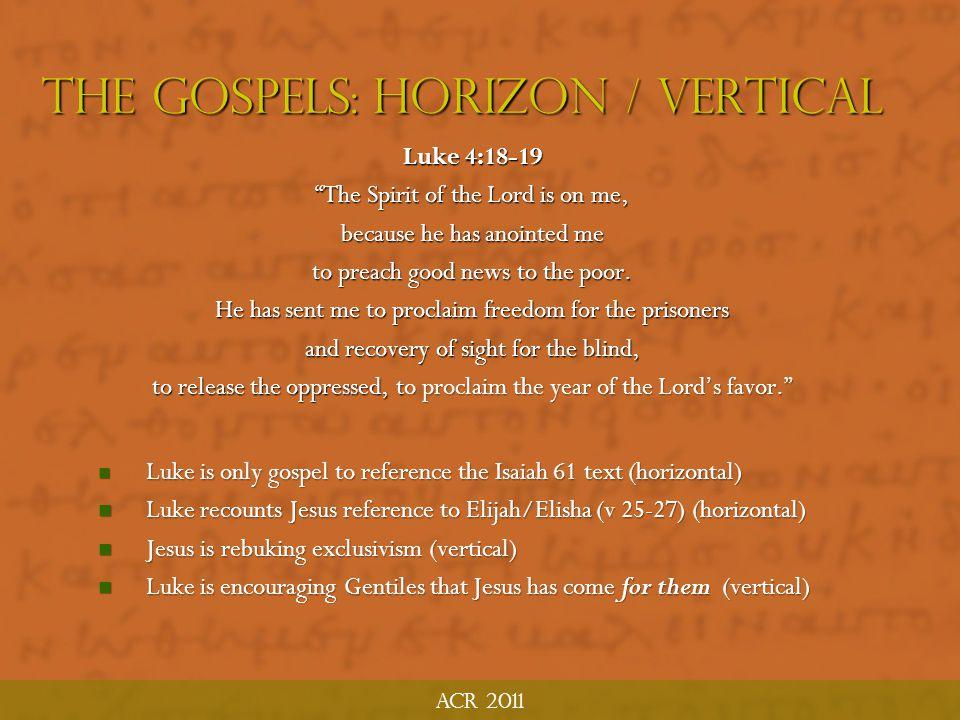 The Gospels: Horizon / Vertical
