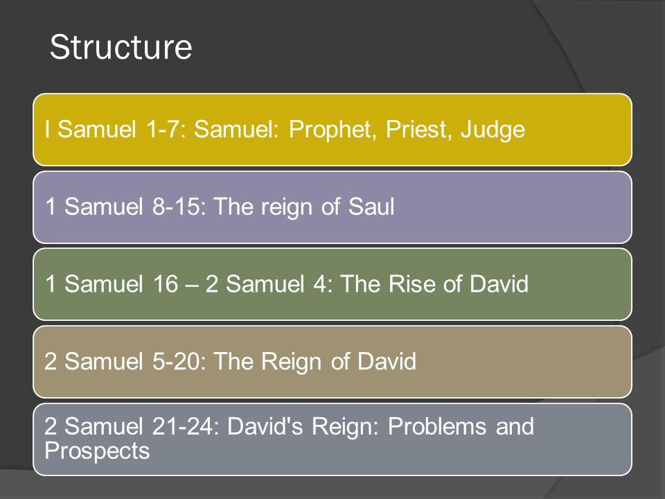 Structure I Samuel 1-7: Samuel: Prophet, Priest, Judge