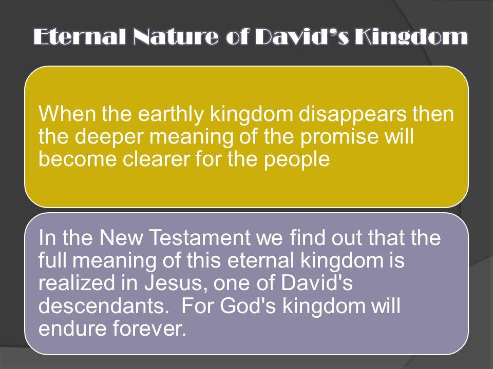 Eternal Nature of David's Kingdom