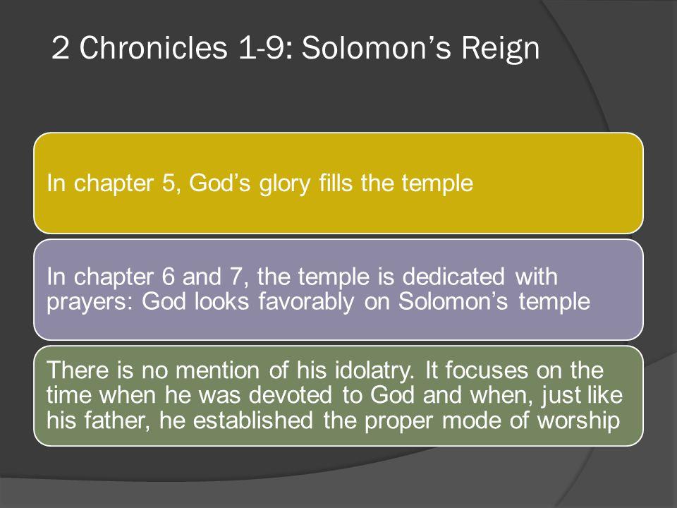 2 Chronicles 1-9: Solomon's Reign