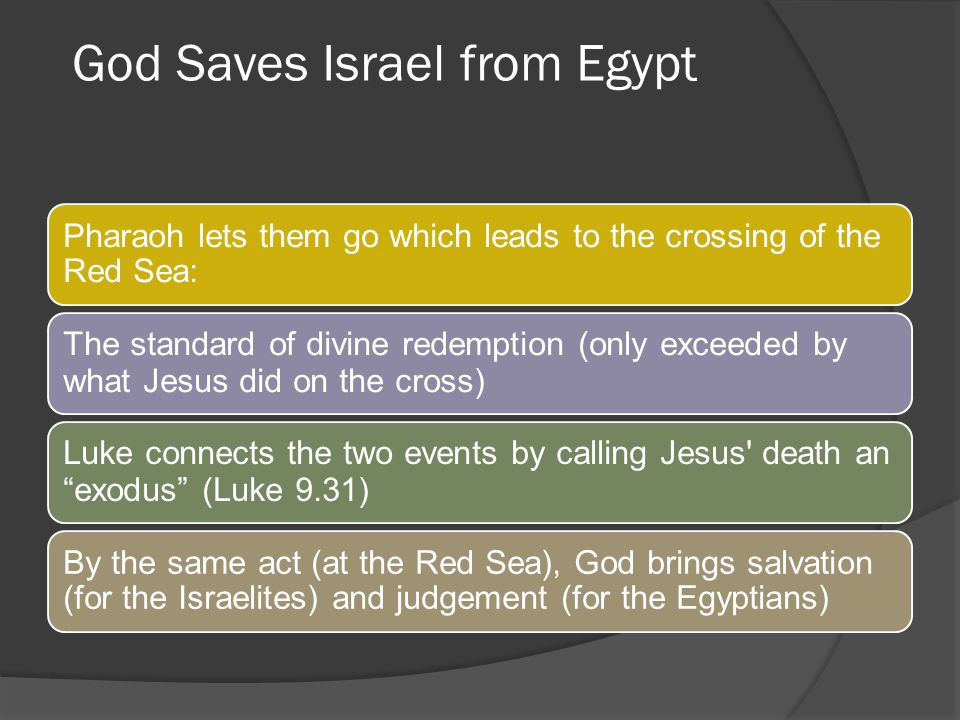 God Saves Israel from Egypt