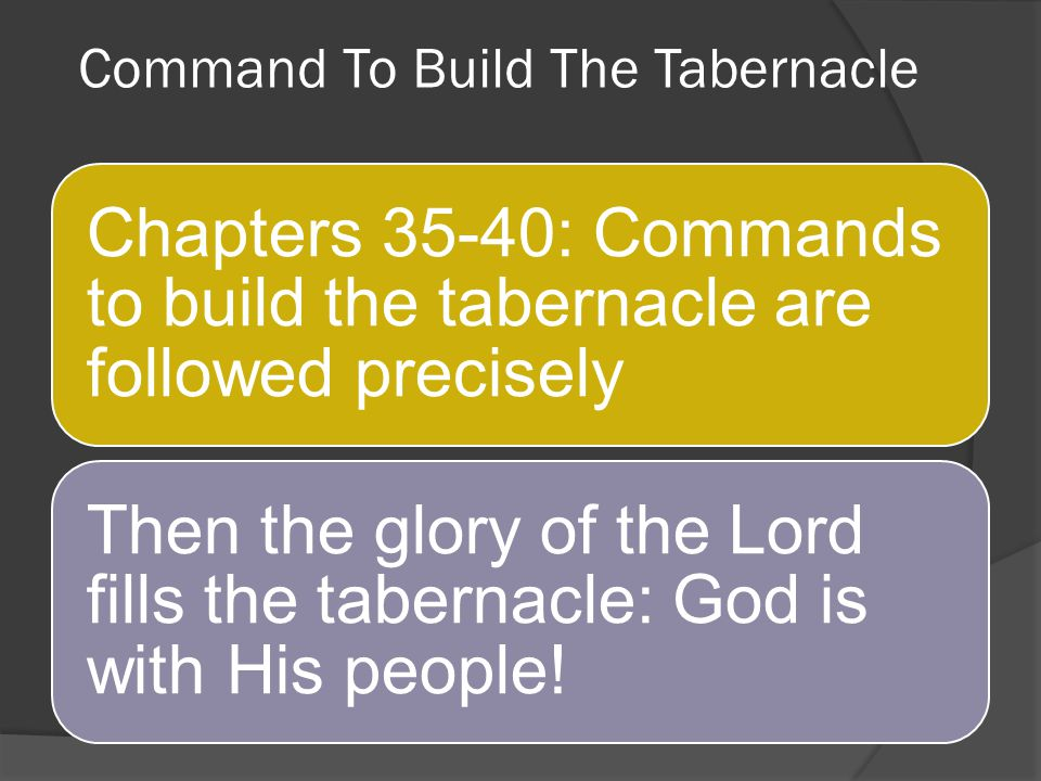 Command To Build The Tabernacle