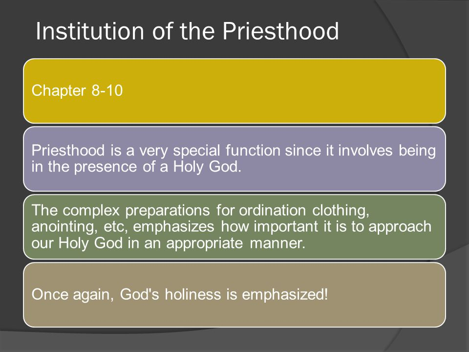 Institution of the Priesthood
