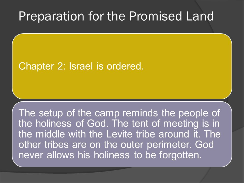 Preparation for the Promised Land