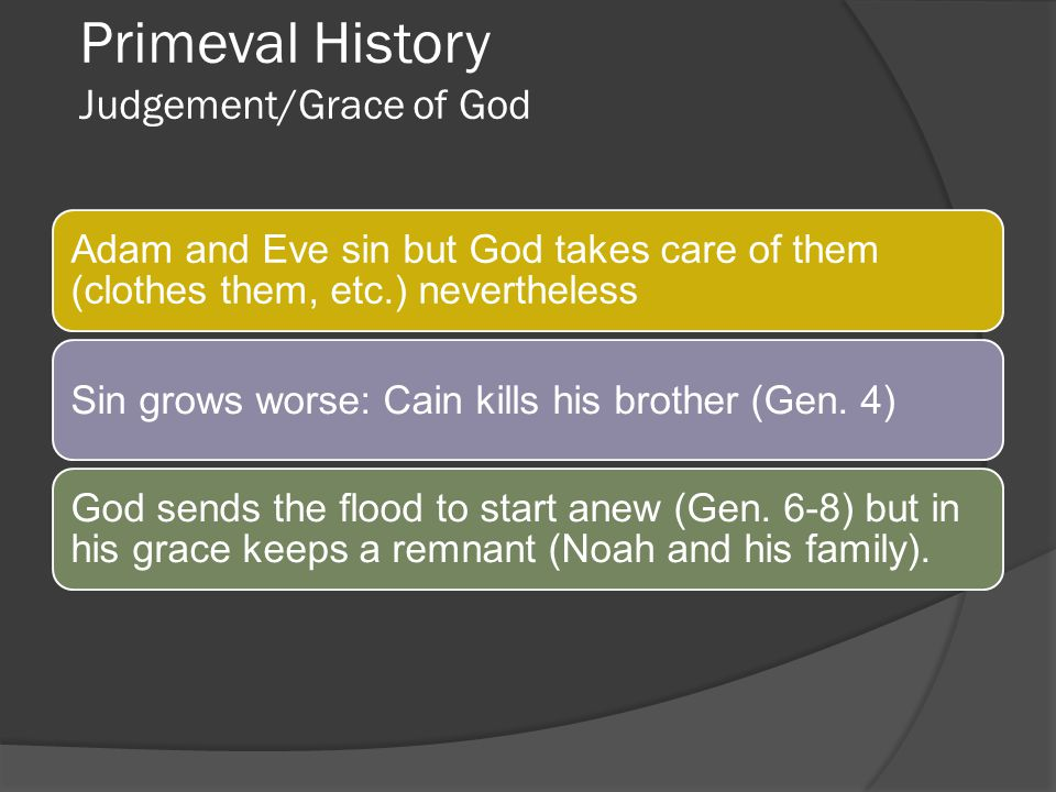 Primeval History Judgement/Grace of God