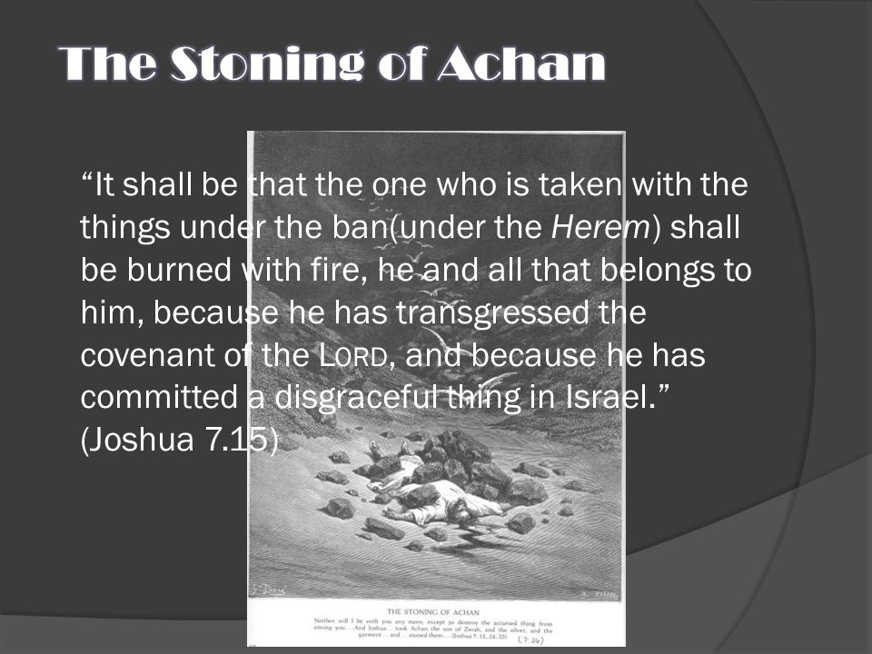 The Stoning of Achan