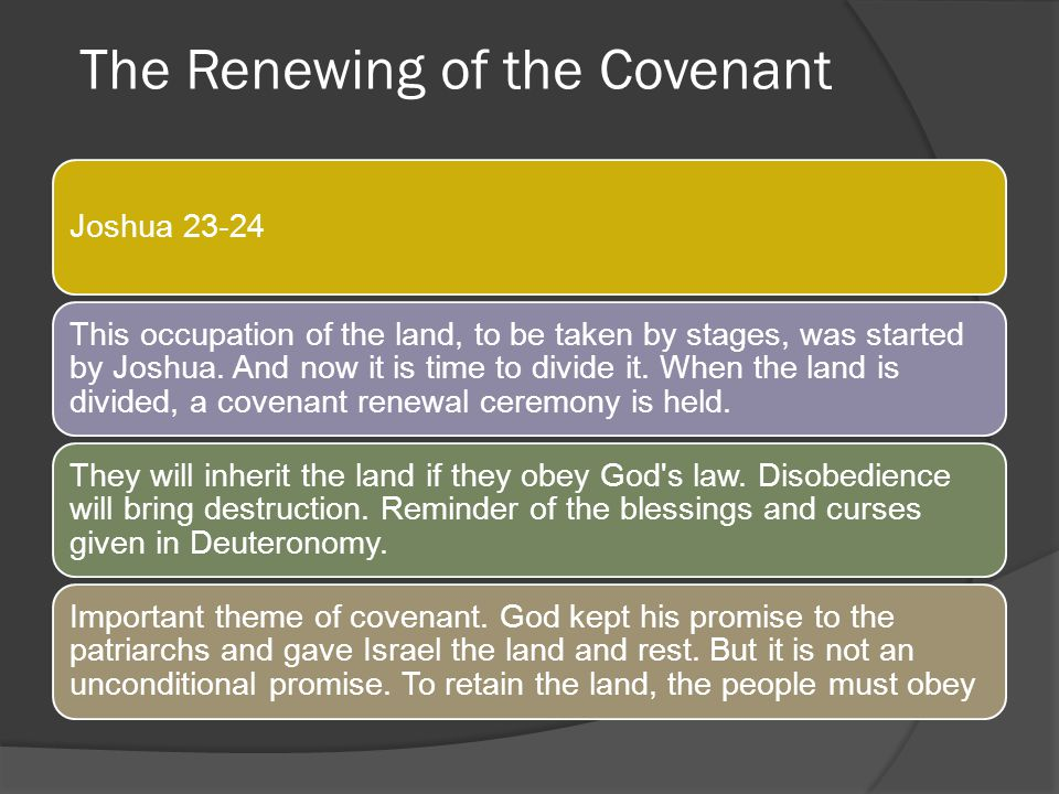 The Renewing of the Covenant