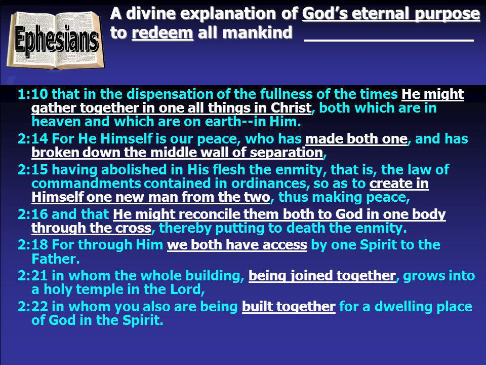 A divine explanation of God's eternal purpose to redeem all mankind