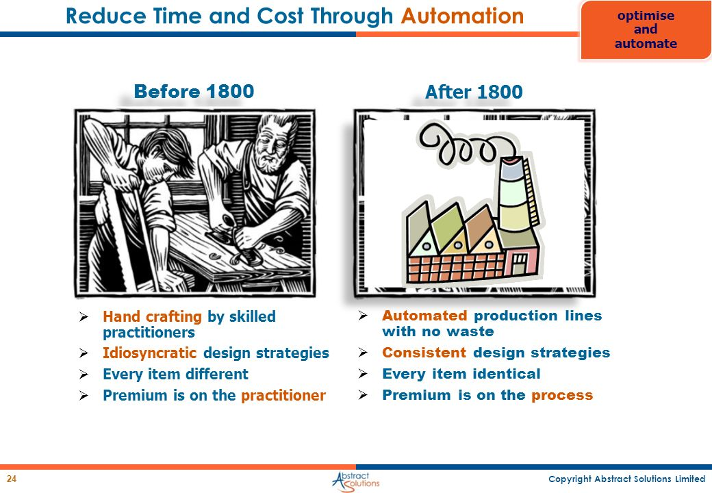 Reduce Time and Cost Through Automation