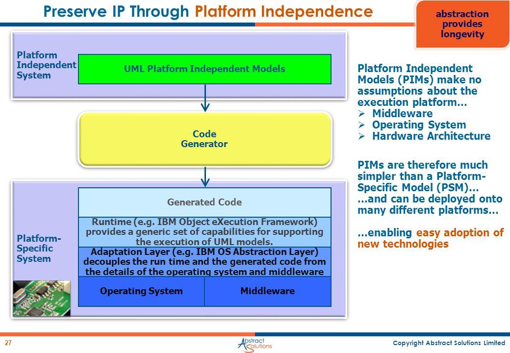 Preserve IP Through Platform Independence