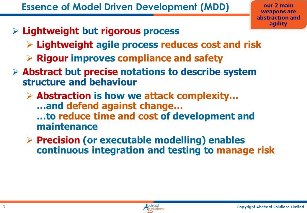 Essence of Model Driven Development (MDD)