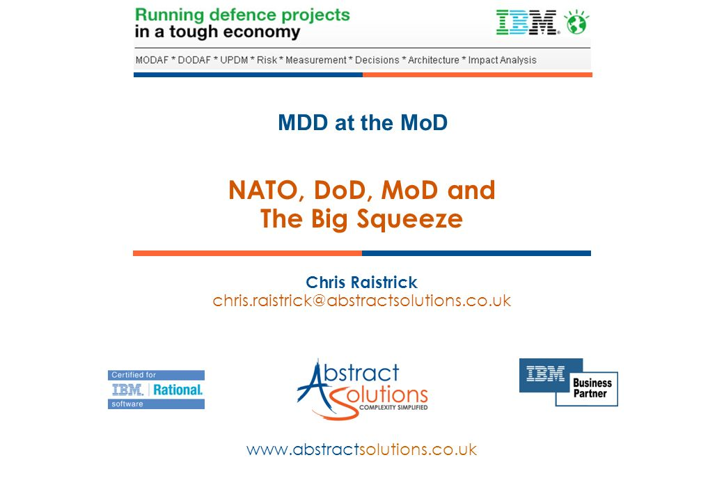 NATO, DoD, MoD and The Big Squeeze