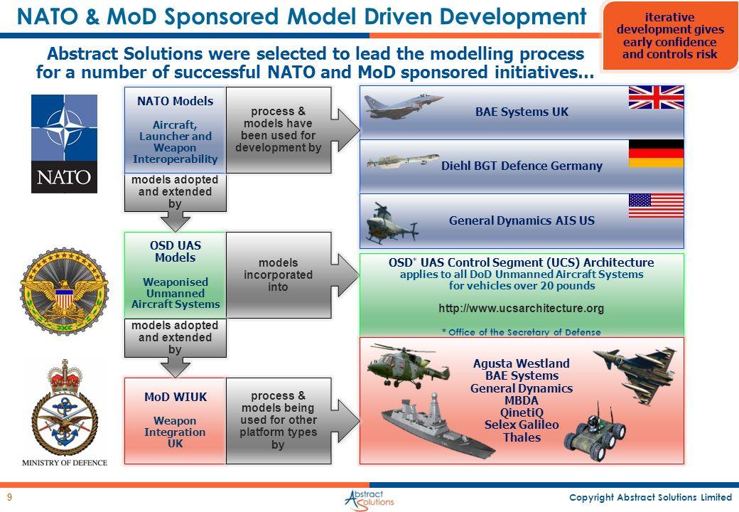 NATO & MoD Sponsored Model Driven Development