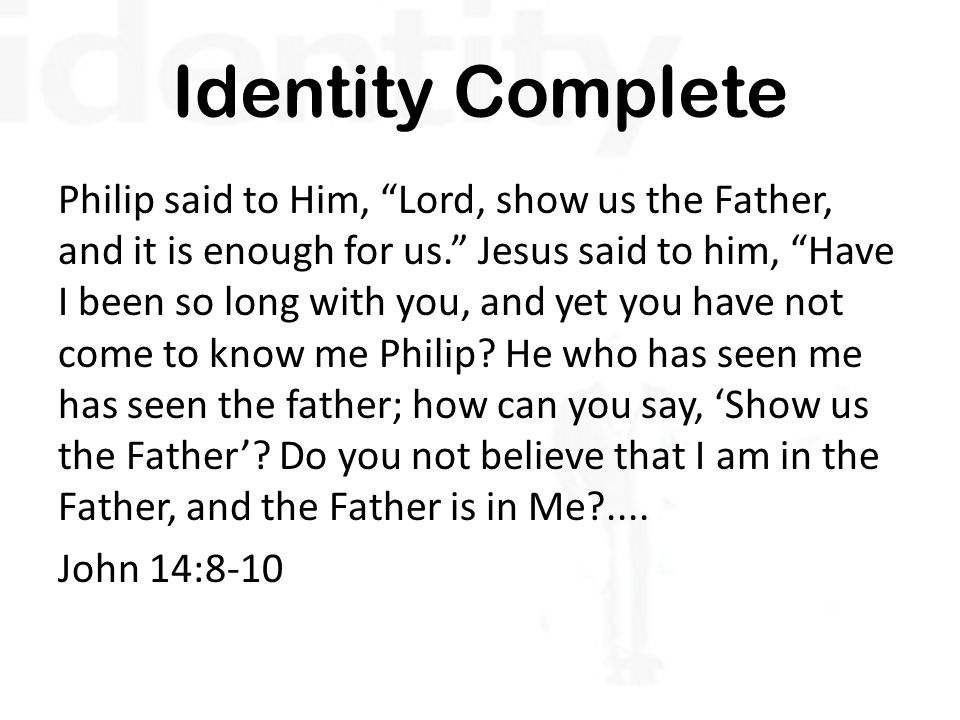 Identity Complete