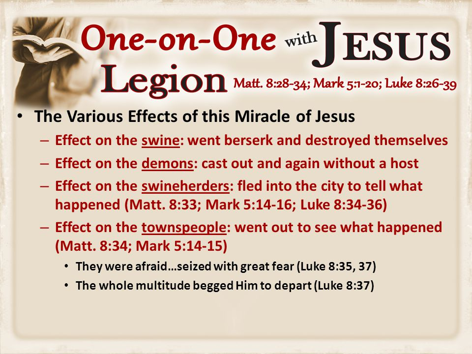 The Various Effects of this Miracle of Jesus