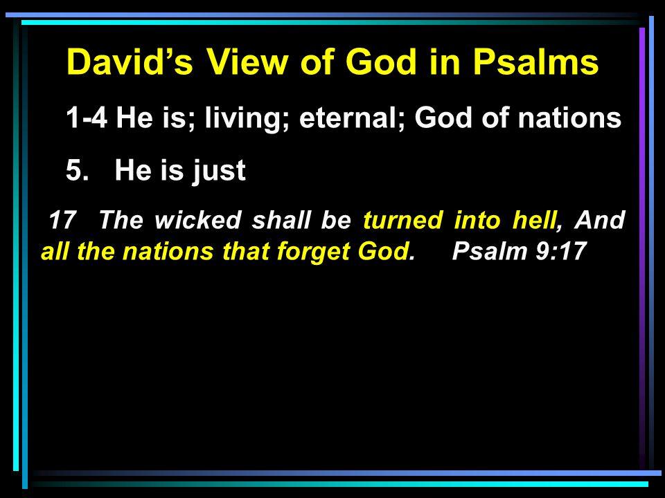 David's View of God in Psalms