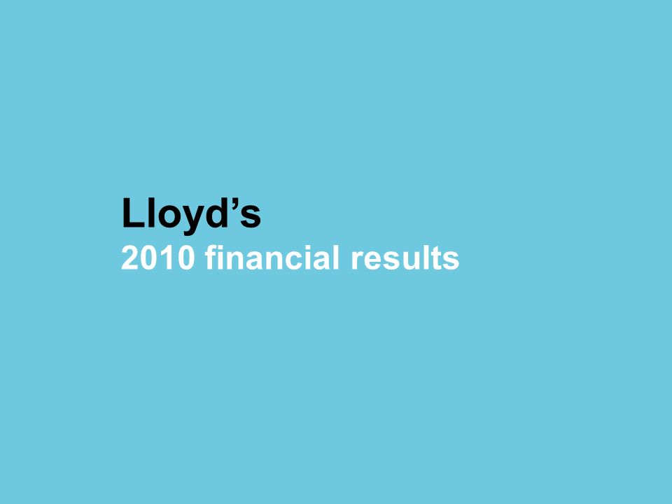 Lloyd's 2010 financial results