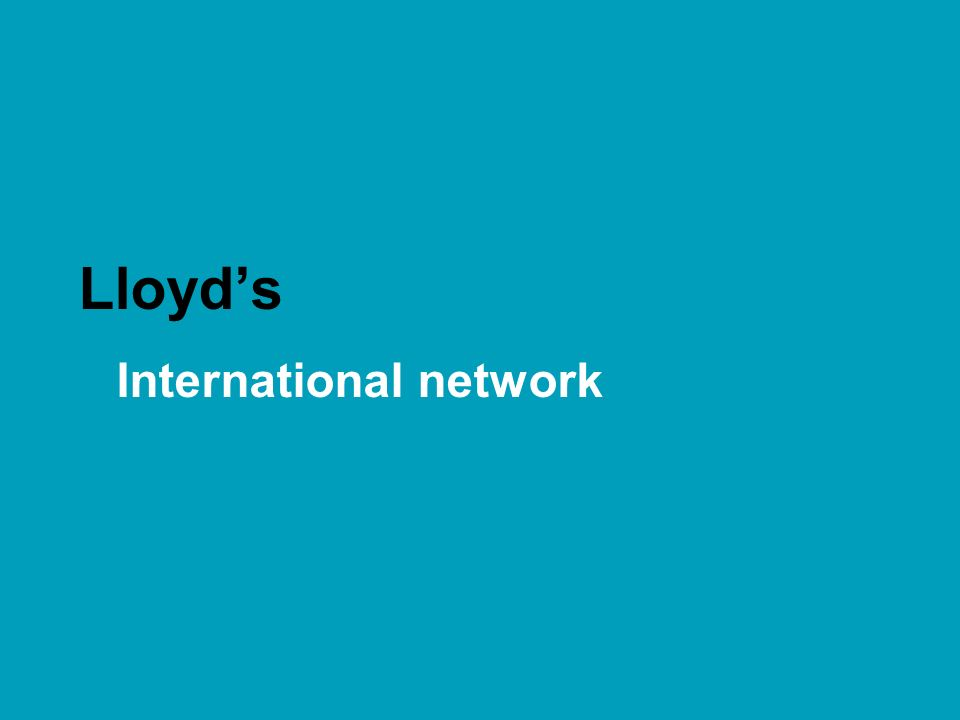 Lloyd's International network