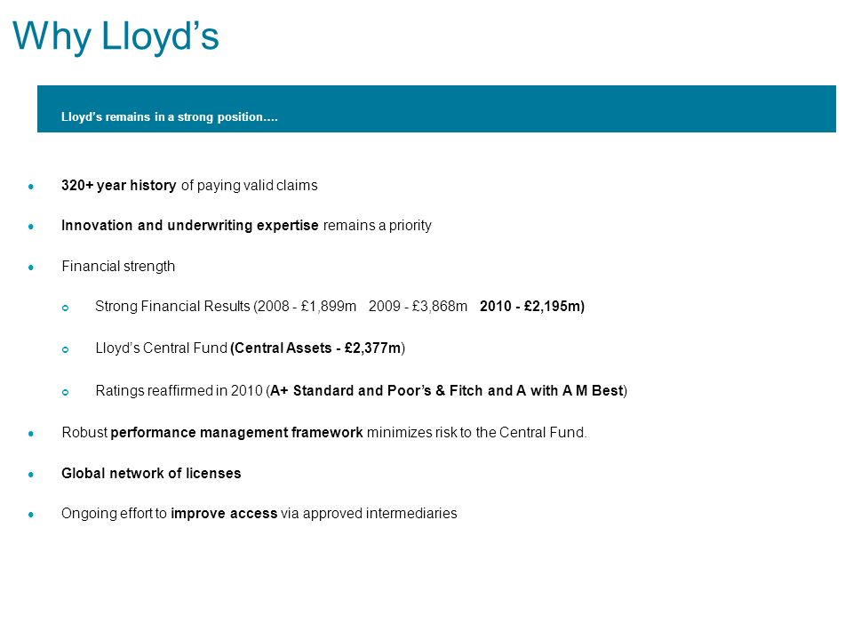 Why Lloyd's 320+ year history of paying valid claims