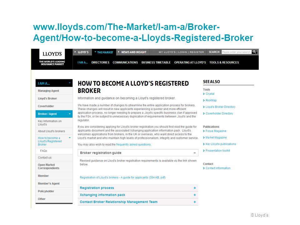 www.lloyds.com/The-Market/I-am-a/Broker-Agent/How-to-become-a-Lloyds-Registered-Broker