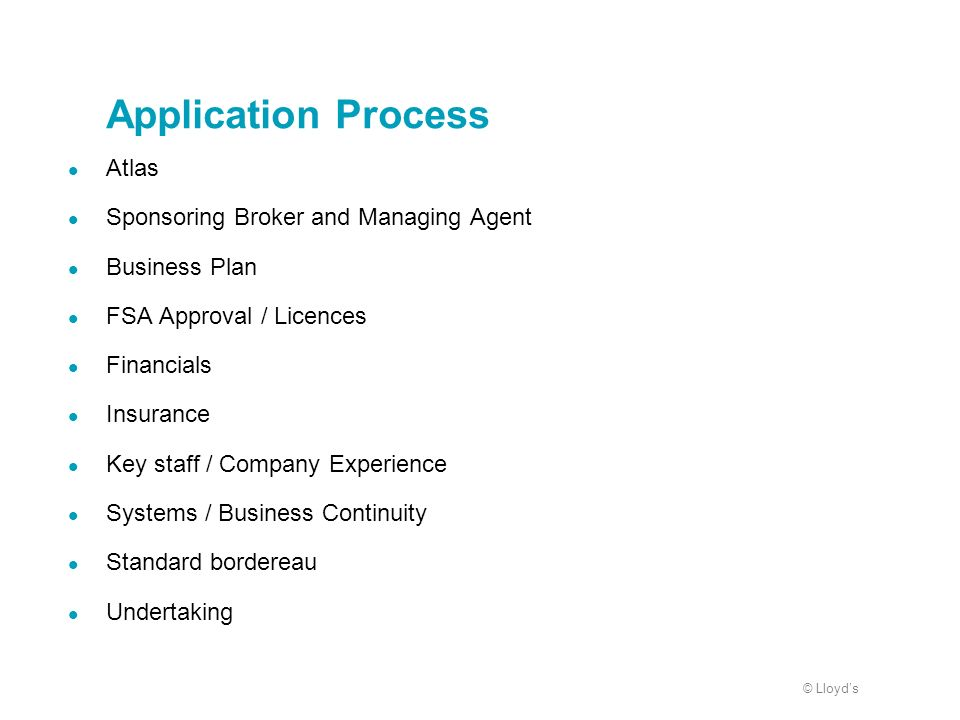 Application Process Atlas Sponsoring Broker and Managing Agent