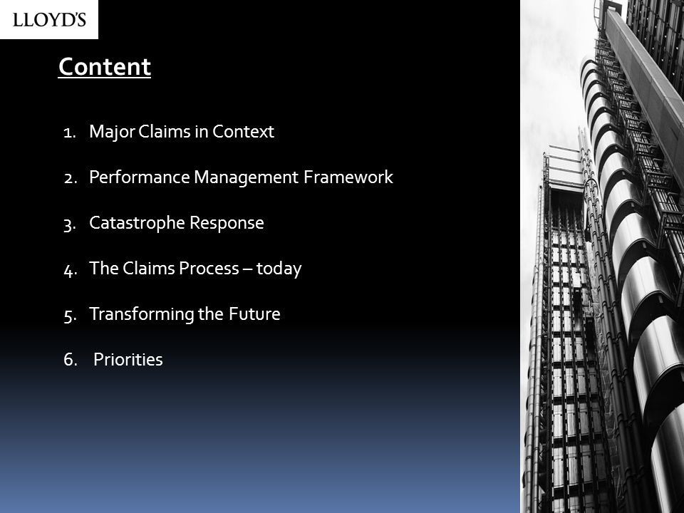 Content Major Claims in Context Performance Management Framework
