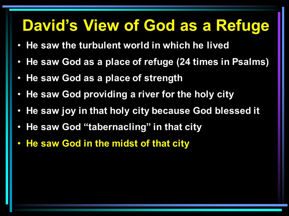 David's View of God as a Refuge