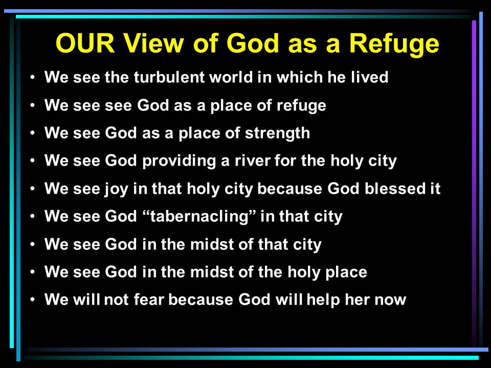 OUR View of God as a Refuge