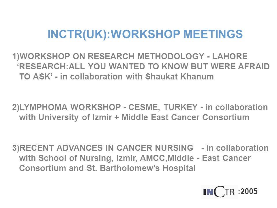 INCTR(UK):WORKSHOP MEETINGS