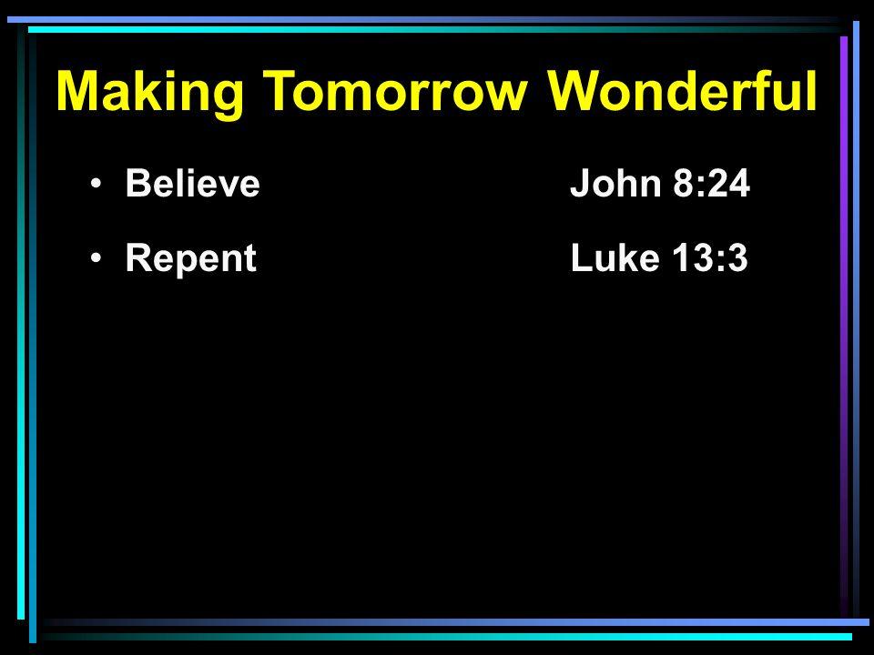 Making Tomorrow Wonderful
