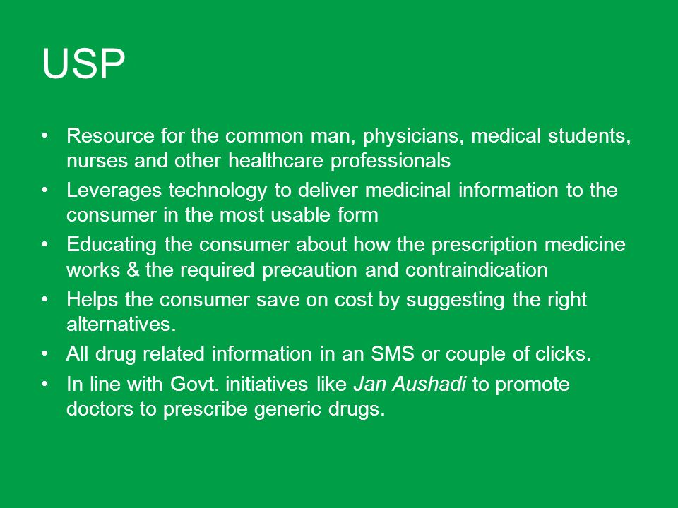 USP Resource for the common man, physicians, medical students, nurses and other healthcare professionals.
