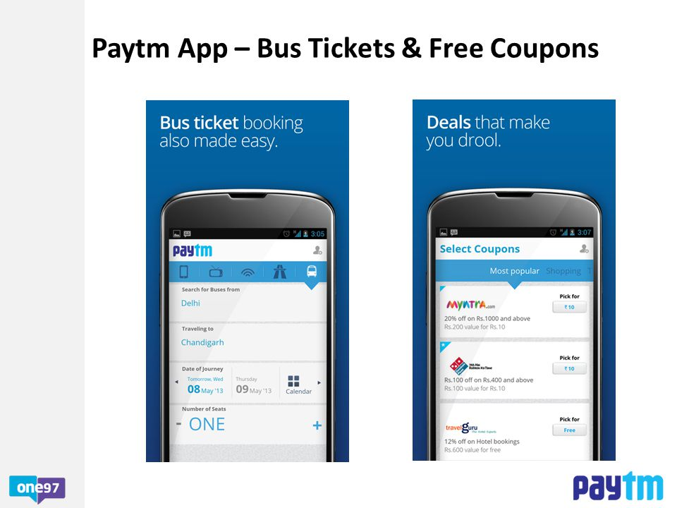 Paytm App – Bus Tickets & Free Coupons