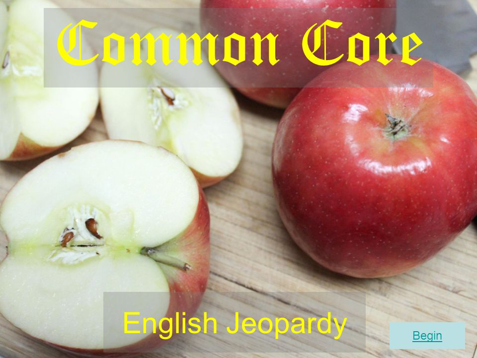 Common Core English Jeopardy Begin