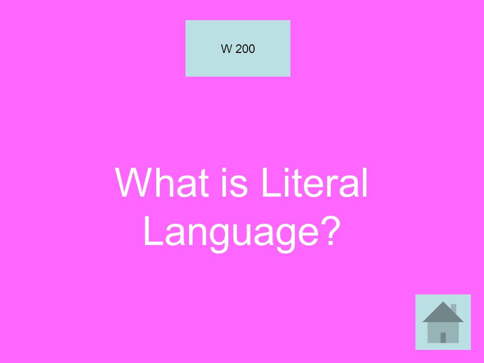 What is Literal Language