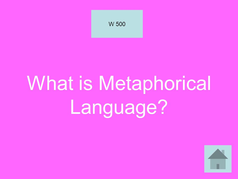 What is Metaphorical Language