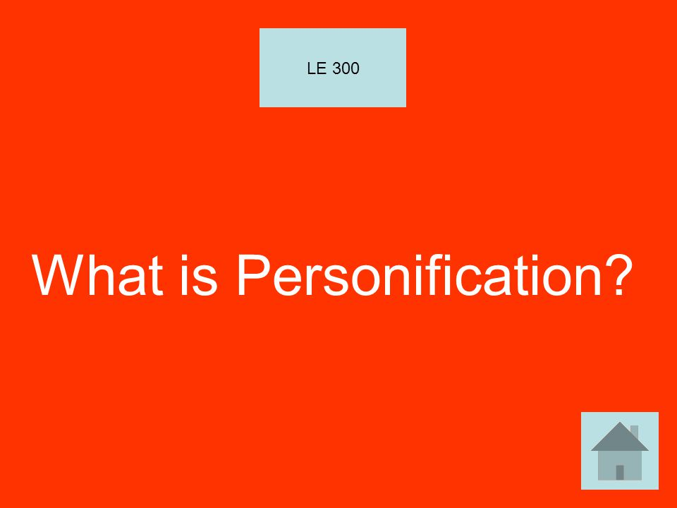What is Personification