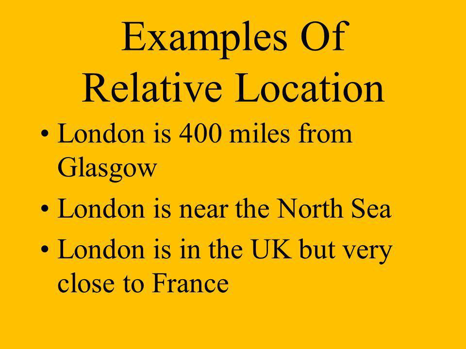 Examples Of Relative Location