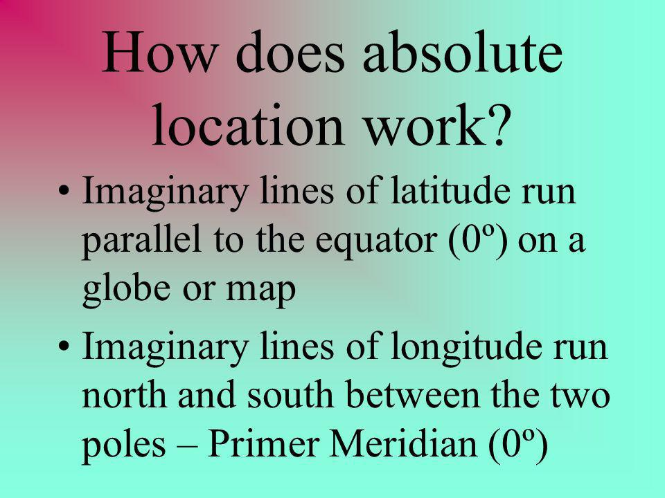How does absolute location work