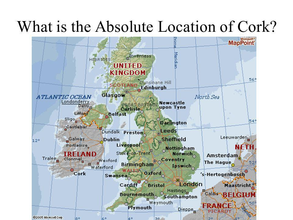 What is the Absolute Location of Cork